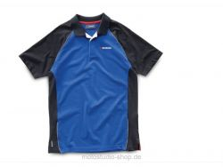 SUZUKI Team Polo Shirt Herren Blau