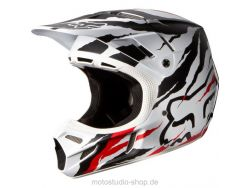 FOX V4 Forzaken Helmet 14 Black/Red